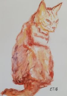 Animal Commission (Toulouse the red Tom cat) 2018, Eleanor Taylor